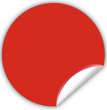 Button in Rot